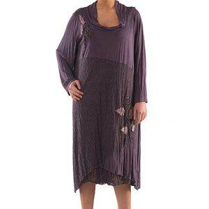 Plus Size Dress with Lace - La Mouette